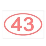 Number 43 Oval Postcards (Package of 8)