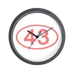 Number 43 Oval Wall Clock