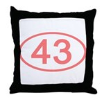 Number 43 Oval Throw Pillow