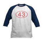 Number 43 Oval Kids Baseball Jersey