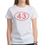 Number 43 Oval Women's T-Shirt