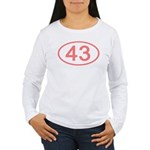 Number 43 Oval Women's Long Sleeve T-Shirt