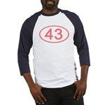 Number 43 Oval Baseball Jersey