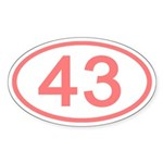 Number 43 Oval Oval Sticker