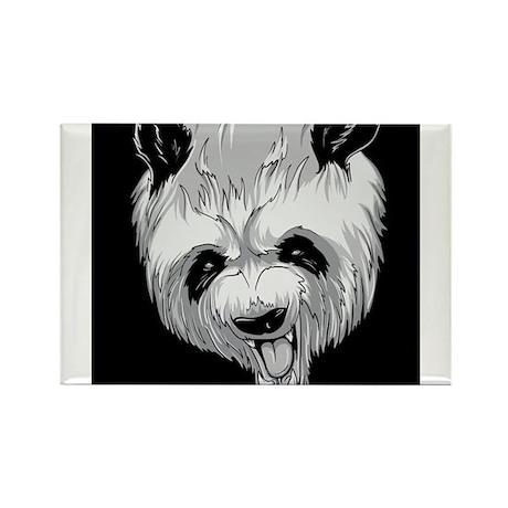 Angry Panda Rectangle Magnet