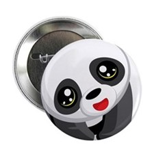 """Excited Panda 2.25"""" Button"""