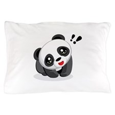 Excited Panda Pillow Case