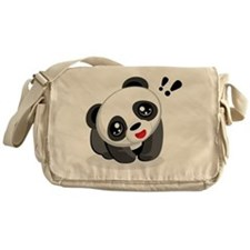 Excited Panda Messenger Bag