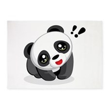 Excited Panda 5'x7'Area Rug