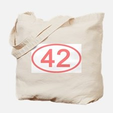 Number 42 Oval Tote Bag