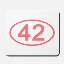 Number 42 Oval Mousepad