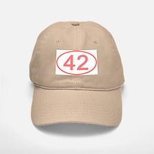 Number 42 Oval Baseball Baseball Cap