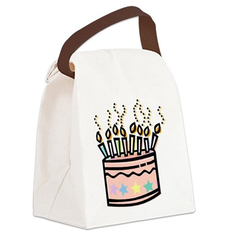 Canvas Cake Decorating Bags : BIRTHDAY CAKE [4] Canvas Lunch Bag by Creative805_2