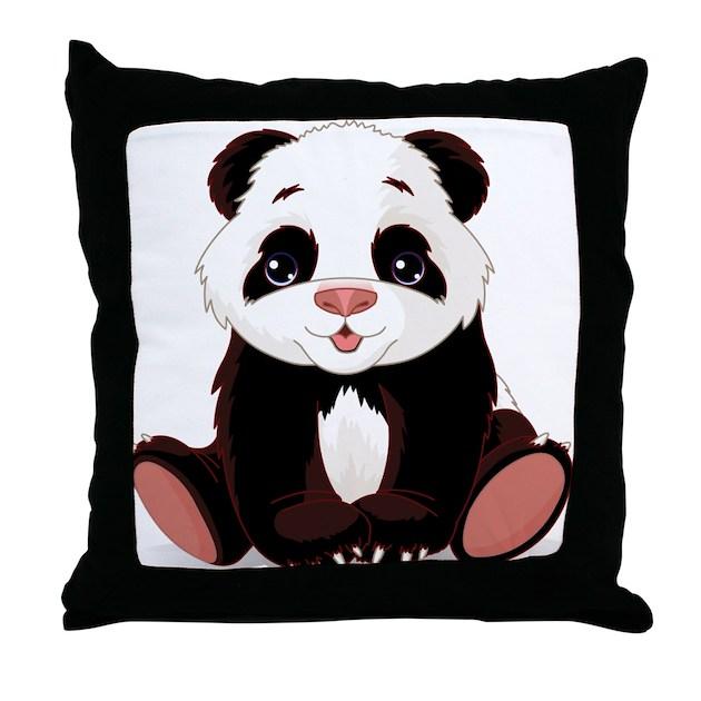 Cute Panda Pillow : Cute Baby Panda Throw Pillow by WorldofAnimals
