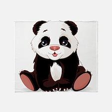 Cute Baby Panda Throw Blanket