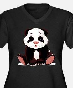Cute Baby Panda Plus Size T-Shirt