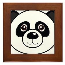 Panda Face Framed Tile