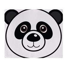 Panda Face Throw Blanket