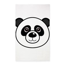 Panda Face 3'x5' Area Rug
