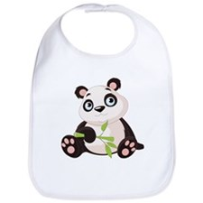 Baby Panda with Bamboo Bib