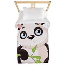 Baby Panda with Bamboo Twin Duvet