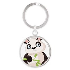 Baby Panda with Bamboo Keychains