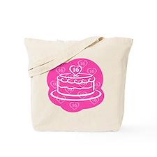 SWEET 16 BIRTHDAY CAKE Tote Bag