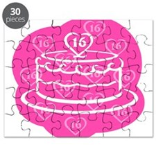 SWEET 16 BIRTHDAY CAKE Puzzle