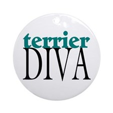 Terrier Diva Ornament (Round)