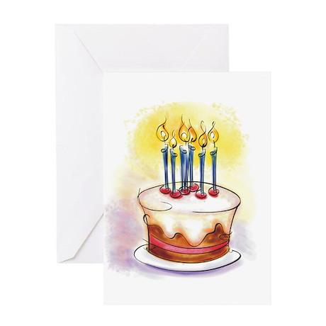BIRTHDAY CAKE [7] Greeting Card by Creative805_2