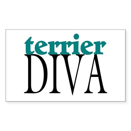 Terrier Diva Rectangle Sticker