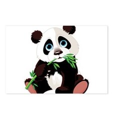 Panda Eating Bamboo Postcards (Package of 8)
