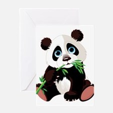 Panda Eating Bamboo Greeting Card