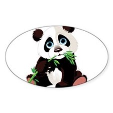 Panda Eating Bamboo Decal