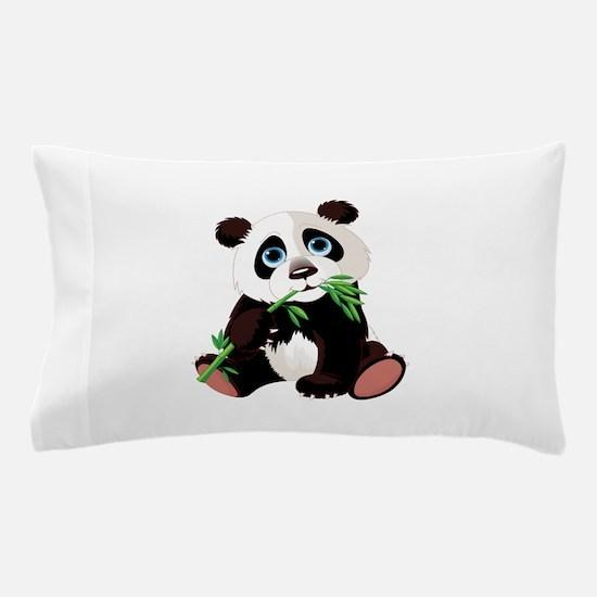Panda Eating Bamboo Pillow Case
