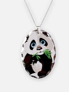 Panda Eating Bamboo Necklace