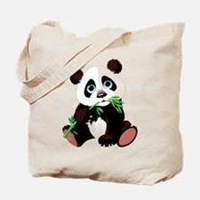 Panda Eating Bamboo Tote Bag