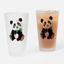 Panda Eating Bamboo Drinking Glass
