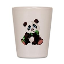 Panda Eating Bamboo Shot Glass