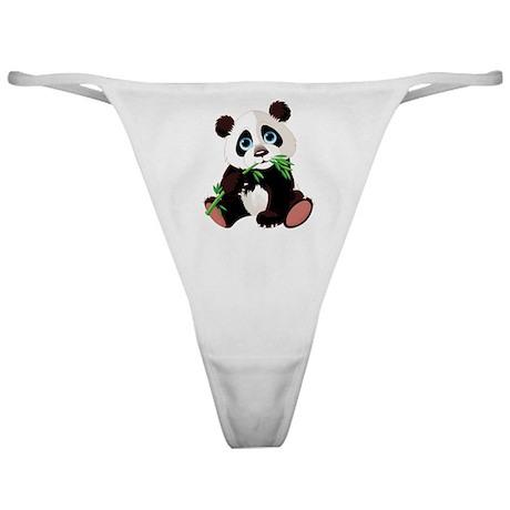 Panda Eating Bamboo Classic Thong