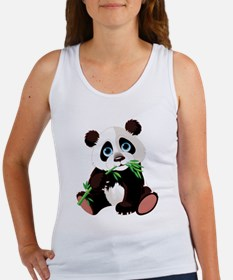 Panda Eating Bamboo Tank Top