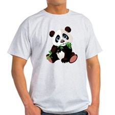 Panda Eating Bamboo T-Shirt