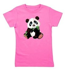 Panda Eating Bamboo Girl's Tee