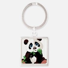 Panda Eating Bamboo Keychains