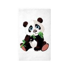 Panda Eating Bamboo 3'x5' Area Rug