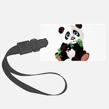 Panda Eating Bamboo Luggage Tag