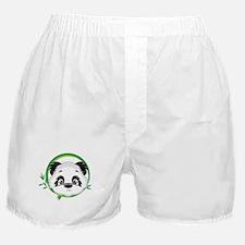 Panda in Bamboo Circle Boxer Shorts