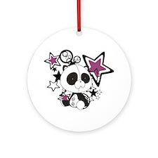 Panda with Stars Ornament (Round)