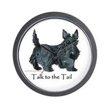 Scottish Terrier Attitude Wall Clock