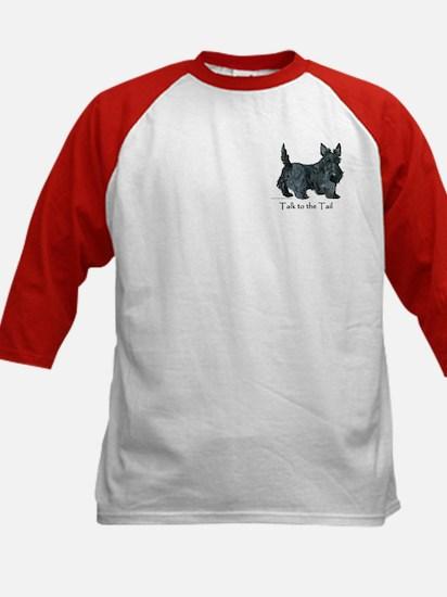 Scottish Terrier Attitude Kids Baseball Jersey